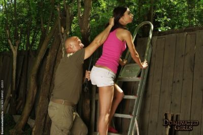 BDSM outdoor action features milf cutie with a perfect ass Betty Stylle