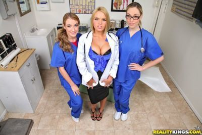 Females nurses and doctor find a BBC irresistible and need to suck on it