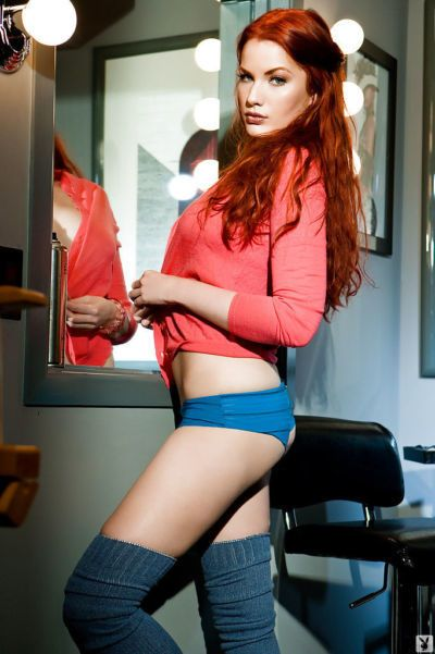 Big busted redhead coed Kinsey Elizabeth stripping off her clothes