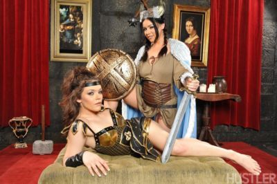 Cosplay sex loving babes play lesbian and destroy cunts with dangerous toys