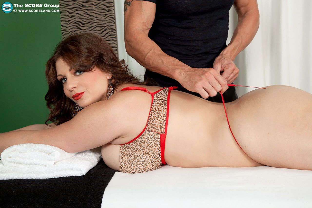 BBW Jessica Roberts is stripped naked and fucked by her massage therapist