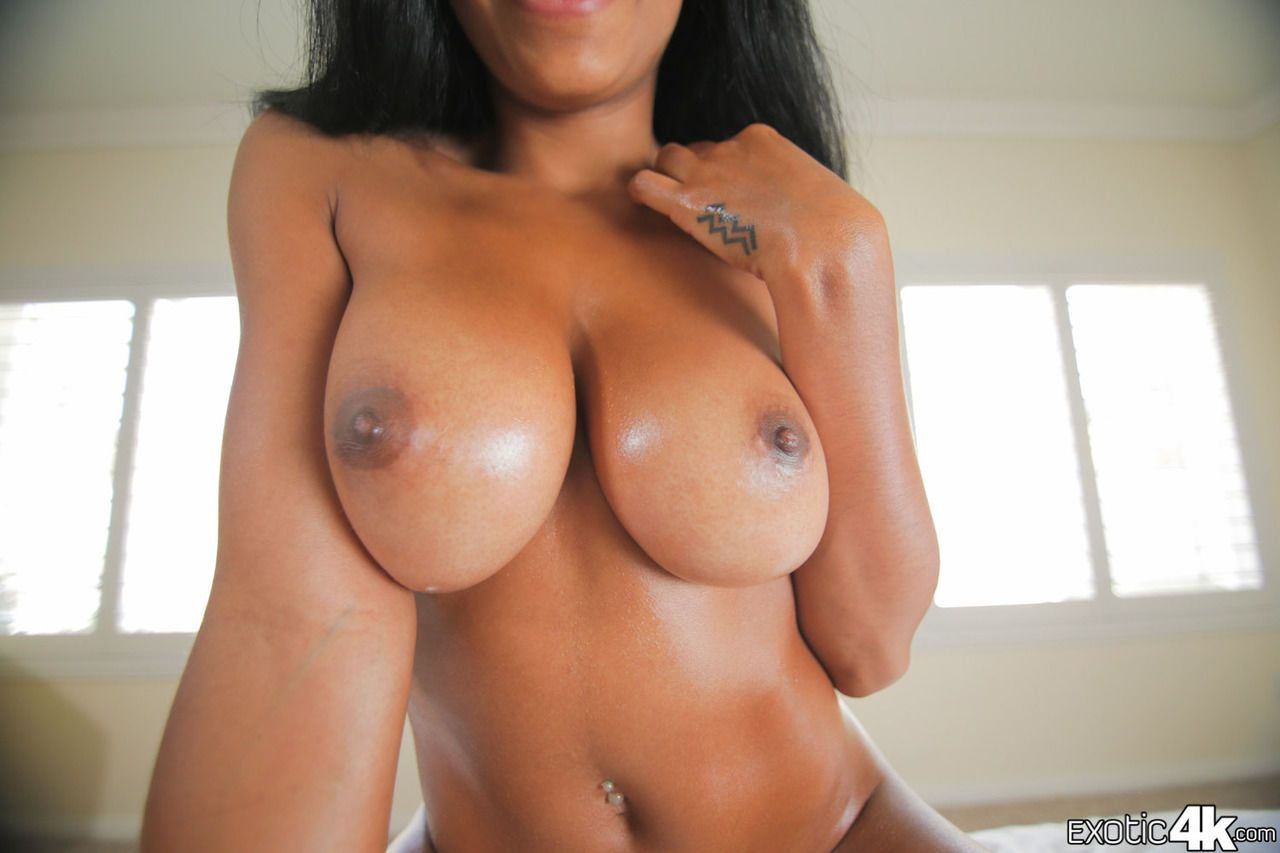 Busty black female loves getting fucked and jizzed on by a big white dick