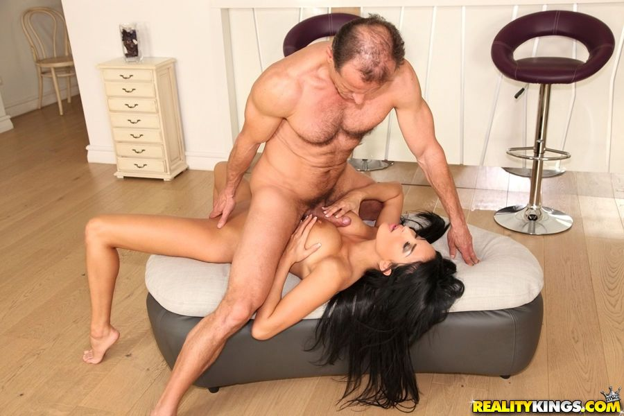 Stunning European slut Anissa Kate giving a titjob and a blowjob