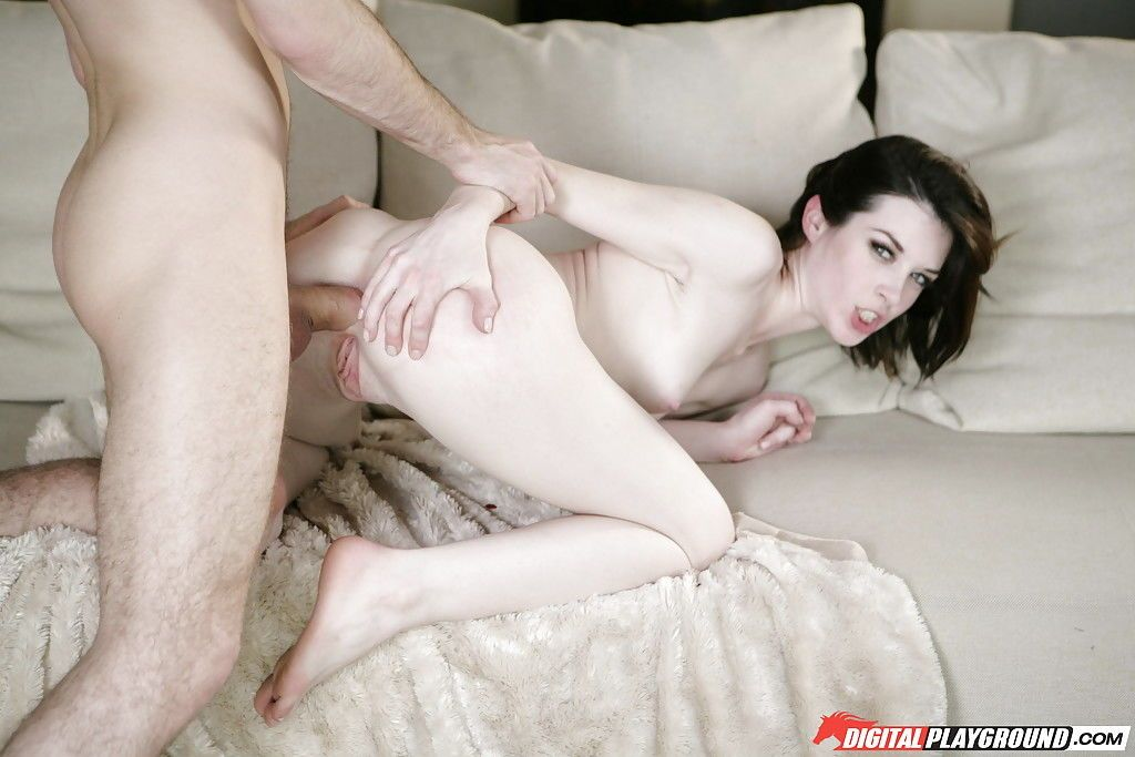 Attractive skinny pornstar anally exploited with monstrous cock