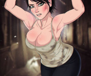 Picture- Wildly busty cartoon MILF