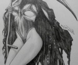 Picture- Art Work of Evil Evi Kane has been drawn as a..