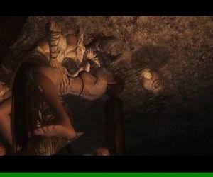 Skyrim Beauty Forced by Falmer Monsters - 5 min