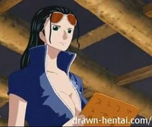 One Piece Hentai video Sex with Nico Robin - 6 min
