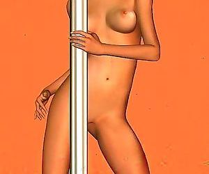 Redhead toon stripper babe