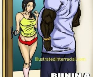 Runin A Train Visit- illustrated interracial