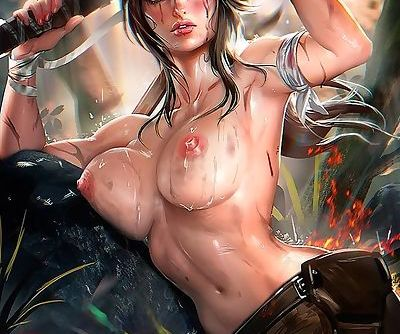 The might of Lara Croft.