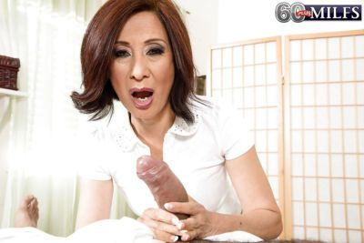 Asian gran Kim Anh giving hot oil massage before riding cock cowgirl style