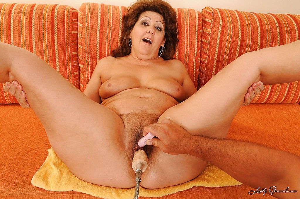Fatty granny gets her twat pleased with toys and a big boner