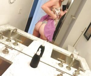 Frisky sweetie making selfies and flashing her private parts