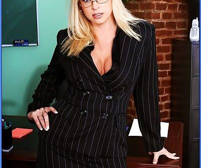 Sultry teacher in glasses Cameron..