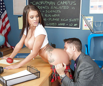 Amazing tanned beauty Peta Jensen was drilled hard by her teacher