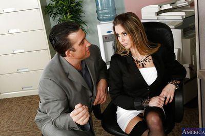 Sexy office milf Rachel Roxxx always fucks with the best dicks