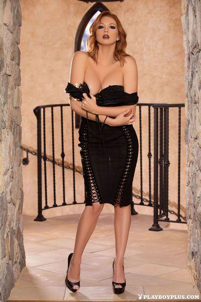 Hot solo model Chandler South strips naked for centerfold shoot