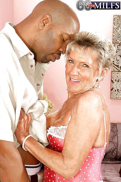 Old mature Sandra Ann amazing sex with black man in rough XXX
