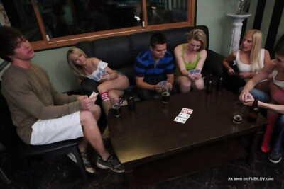 College poker night turns into hardcore orgy - part 653
