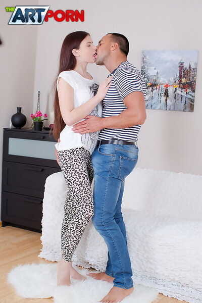 Tall teen Mary is relived of her clothes before receiving an anal creampie