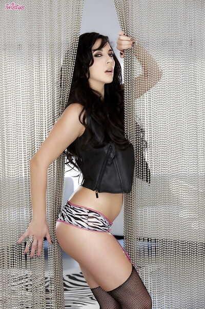 Milf pornstar Jelena Jensen is demonstrating her favorite stockings