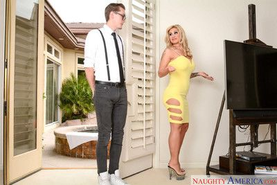 Ryan conner seduces the repair guy with her big boobs and round