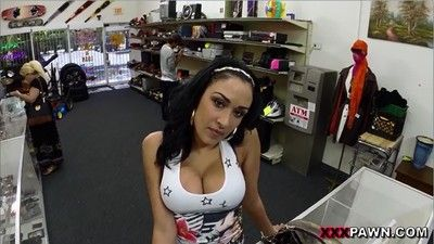 Busty girl trades sex for cash