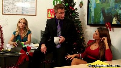 Madison ivy thanking a co worker in the office