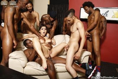 gangbang 雑 性別 orgy と 多くの 黒 cocks
