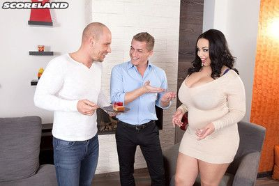 Busty anastasia lux loves birthday with two cocks