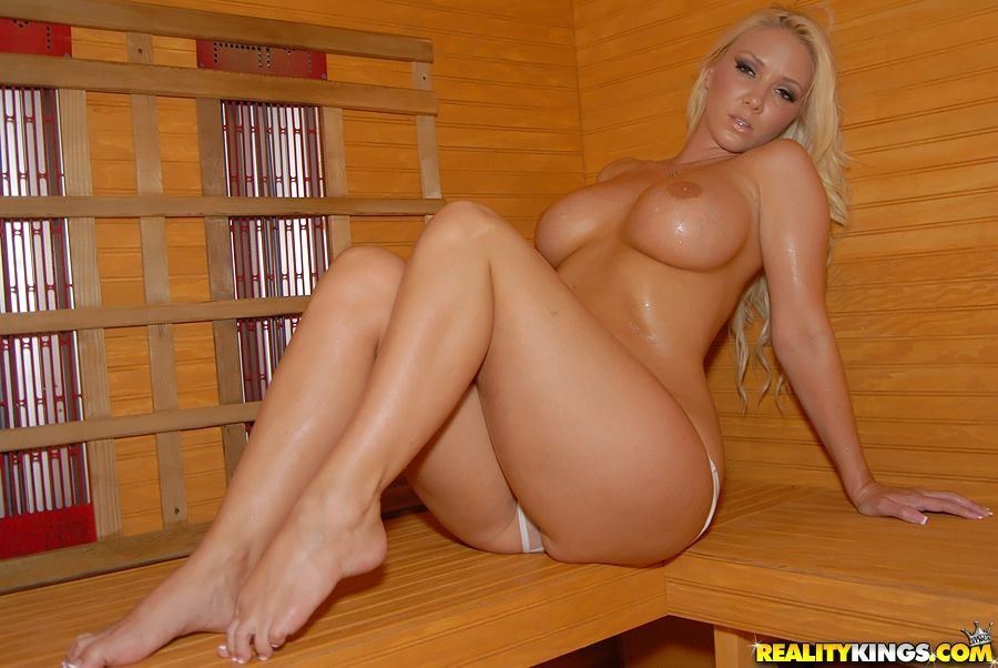 Horny babe in sheer panties Molly Cavalli spreading her legs