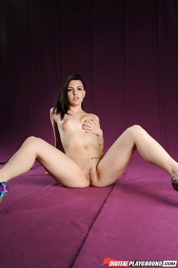 Tattooed pornstar Rachael Madori posing nude after ditching lingerie
