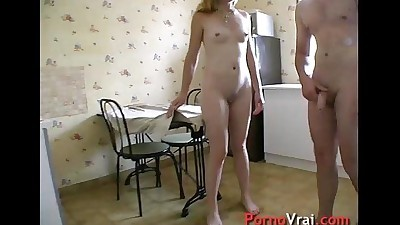 Fuck a blonde mature at home with..