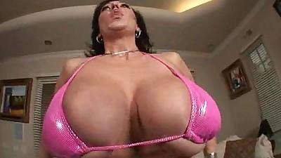 Double Busty Vixen Squeezes Cock..