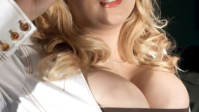 Fat secretary Sunshine whips out..