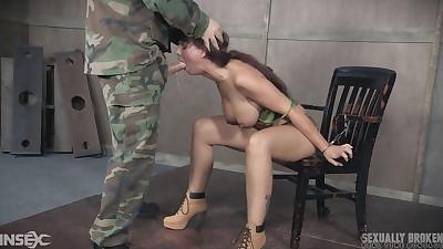 Restrained female Syren De Mer is..