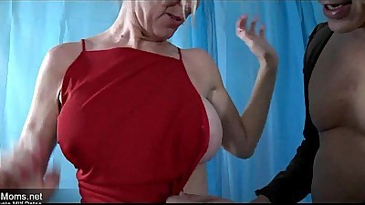 Horny milf slut fucks neighbour..