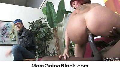 Interracial sex MILF fucked by..