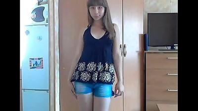 Young teen striptease