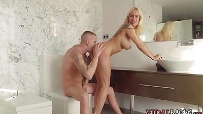 Blonde Amazonian Milfs Shower..