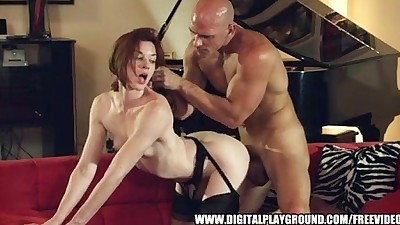 Stocking-footed Stoya loves..