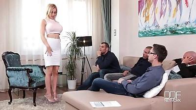 Fantastic Five Busty Blonde Sucks..