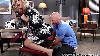 Massaged milf Simone Sonay..