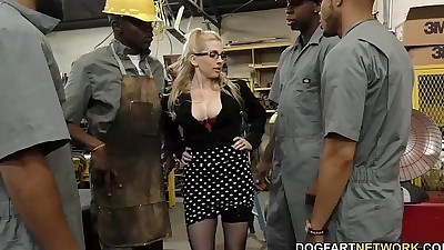 Busty blonde Christie Stevens..