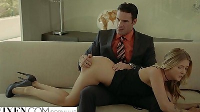 Rich Boss Gets Threesome whit Two..