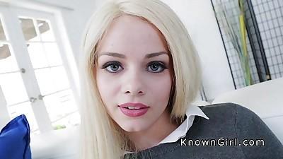 Slim blonde student beauty fucksHD