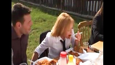 Gorgeous Blonde Babe Public Handjob