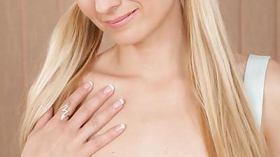 Blonde MILF Monica cast her white..