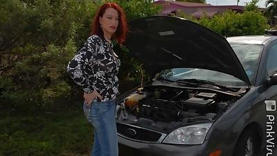 Older redhead tranny Jena Roberts..